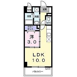 シャルマン リヴェール 6階1LDKの間取り