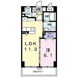 シャルマン リヴェール 8階1LDKの間取り
