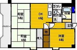 第二城戸ビル[205号室]の間取り
