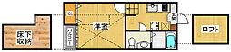 ベネフィスタウン吉塚3[1階]の間取り