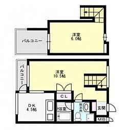 カーサヴェント百道〜J−COM75ch無料〜[4階]の間取り