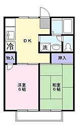 セジュール鎌ヶ谷[1階]の間取り