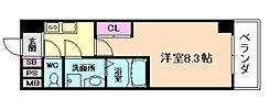 阪急宝塚本線 十三駅 徒歩5分の賃貸マンション 7階1Kの間取り