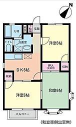 神奈川県川崎市高津区上作延の賃貸アパートの間取り