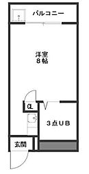 コーポ YOSHII[305号室]の間取り