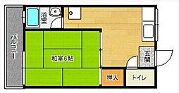 コーポ筑紫ヶ丘[2階]の間取り