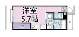 JR京浜東北・根岸線 大宮駅 徒歩11分の賃貸アパート 2階ワンルームの間取り