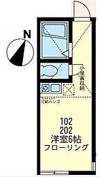 神奈川県川崎市宮前区神木2丁目の賃貸アパートの間取り
