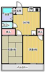 神奈川県川崎市多摩区菅稲田堤3丁目の賃貸アパートの間取り