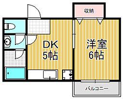 第一コーポ春日荘[4階]の間取り
