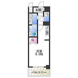 Osaka Metro千日前線 今里駅 徒歩5分の賃貸マンション 7階ワンルームの間取り