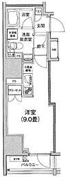 アイルイムーブル日本橋 2階1Kの間取り