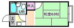 山本ハイツA棟[1階]の間取り