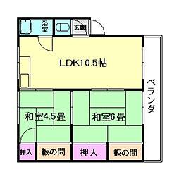 渋谷ハイツ[3階]の間取り