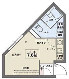 COCOSPACE北綾瀬 4階ワンルームの間取り