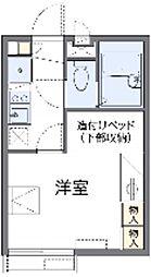 東急田園都市線 たまプラーザ駅 徒歩24分の賃貸アパート 2階1Kの間取り
