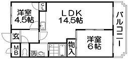 マンションマレット[2階]の間取り