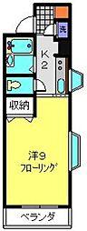 TANAKA HOUSE[2D号室]の間取り