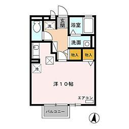 愛知県豊橋市柱六番町の賃貸アパートの間取り