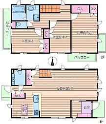 [テラスハウス] 大阪府吹田市藤白台2丁目 の賃貸【/】の間取り