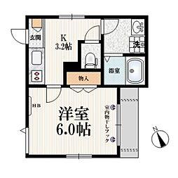 (仮称)栄町9メゾン 1階1Kの間取り