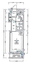 西武新宿線 新井薬師前駅 徒歩3分の賃貸マンション 2階1Kの間取り