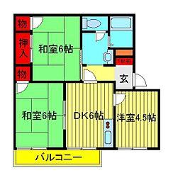 メゾン旭B・C[2階]の間取り