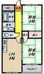 シカタマンション[1階]の間取り