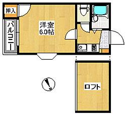 クオリティ荒江2[1階]の間取り