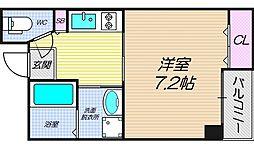 リバーライズ南堀江[7階]の間取り