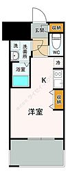 福岡市地下鉄七隈線 渡辺通駅 徒歩5分の賃貸マンション 7階1Kの間取り