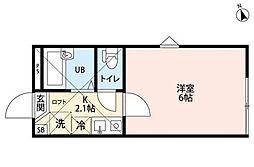 アートフル中野島[1階]の間取り