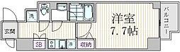エスジーコート三ノ輪 5階1Kの間取り