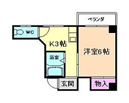 池田丸正ビル[3階]の間取り