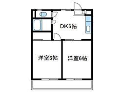 神奈川県座間市相武台4丁目の賃貸アパートの間取り