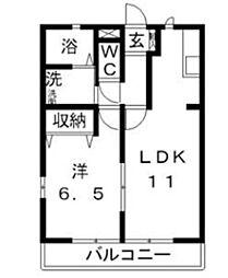 フリーダム[2階]の間取り