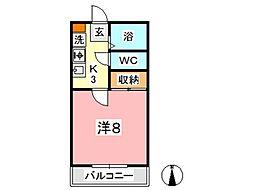 カランドリエ松島[201号室]の間取り