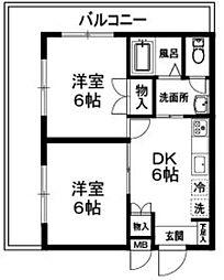 ヴェルビュー木嶌[3階]の間取り