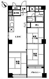 東カン福岡第2キャステール[602号室]の間取り