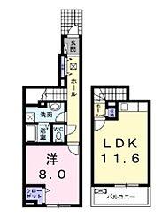 プロムナード倉敷[1階]の間取り