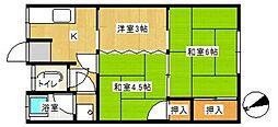 荒江コーポ[3号室]の間取り