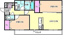 仮)D-room南中振2丁目[3階]の間取り