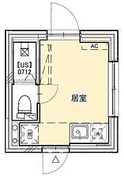 PROTO武蔵小山III 1階ワンルームの間取り