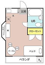 小松メゾン[102号室]の間取り