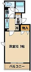 仮)厚木市栄町1丁目マンション 2階1Kの間取り