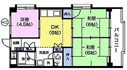 コーポチェリー[2階]の間取り