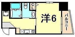 アルファ神戸元町 4階1Kの間取り
