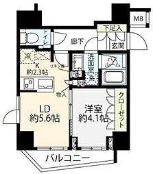 オープンレジデンシア小石川播磨坂 6階1LDKの間取り