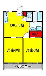 雅 壱番館[2階]の間取り