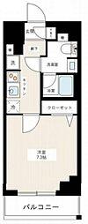 京成本線 千住大橋駅 徒歩3分の賃貸マンション 7階1Kの間取り